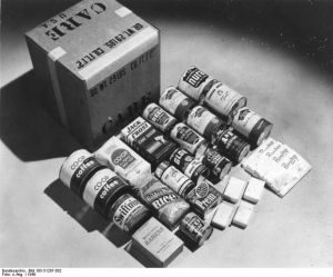 Care Package Contents circa 1948 (European)