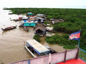 Floating Village on the Mekong River