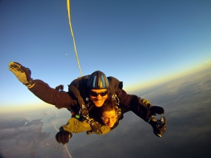 Jim takes Jody on Her First Skydive, Nov 2012