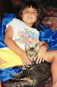 Naomi & Furry Four-Legged Friend Tora, circa 1999-2000