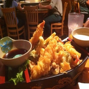 An official boatload of tempura....