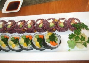 Vegetable Sushi - what's the point? And not what I ordered....