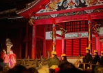 Okinawa Aug 2013, Shuri Castle, our view of the stage, mid-Autumn Festival