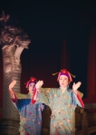 Okinawa Aug 2013, Shuri Castle, the beautiful pair from the Shundo dance, mid-Autumn Festival