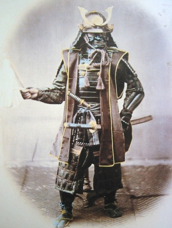 Samurai in Japanese Armor