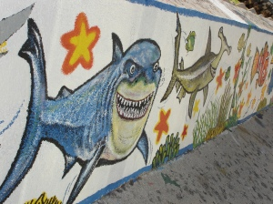 Sea Creatures Adorned the Sunable Seawall