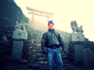 Me Just at the Summit on Mt. Fuji-san