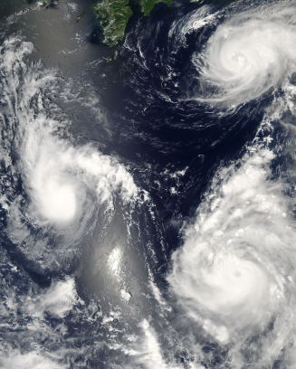Two Typhoons and a Tropical Storm.  Can you even image this back home?