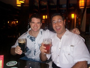 Me and TC having a drink...or three.  Definitely in the famous bar in Hong Kong.