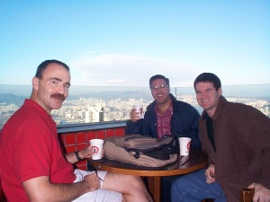 Rick, TC and me in Hong Kong.  An island not of misfit toys.