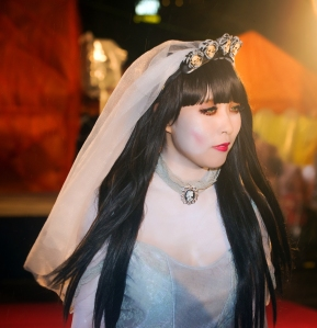 Okinawa Oct 2013, Mihama Halloween, ghostly bride
