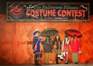 Okinawa Oct 2013, Mihama Halloween, Japanese females in costume