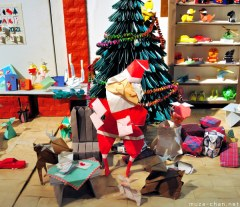 An Origami Overture to Christmas and its Tree