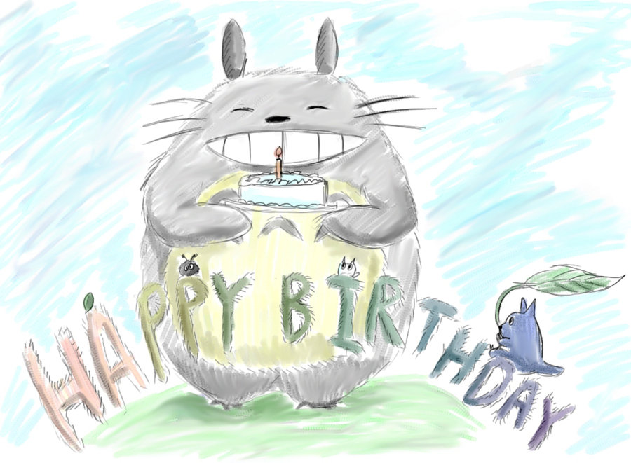 baby – Totoro Birthday Card