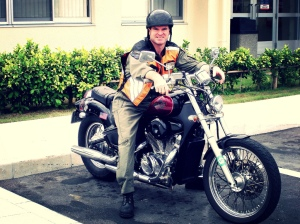 Me on my Honda Steed in Okinawa, 2005