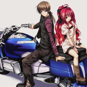 The Anime Version of Me and Jody as Bikers in Japan