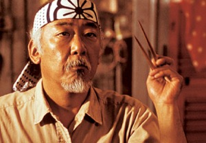 Yes, he (Mr. Miyagi) is Okinawan.
