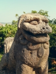 Okinawa Tomori Stone Shisa 2014, proud lion fixed gaze