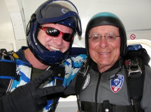 Me and Mr. Don skydiving back in Elberta, Alabama.  Not his airborne patch.