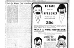 >Tom the Tailor offered nose and mouth protectors for 35 cents to keep people safe from influenza. The ad ran on Nov 1, 1918.