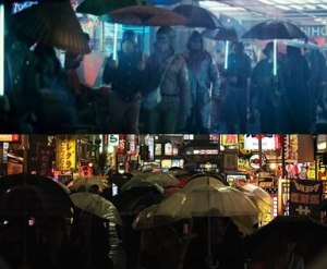 Screen-shots from Bladerunner.  Look closely and you'll see today's streets of Tokyo.