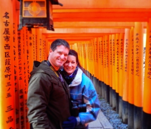 A properly fantastic - and spiritual display of torii!