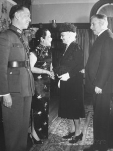 The Stimsons meeting with Mrs. Tao Ming Wei, wife of Chinese Ambassador to the US during WWII