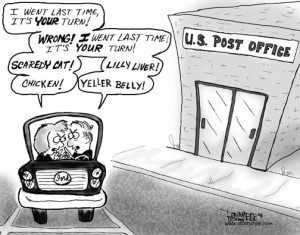 Exactly how I feel when we visit our MPS Post Office