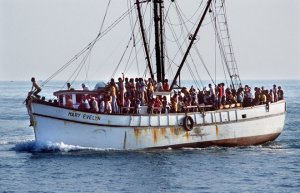 If AMC had ships to move people to Okinawa, they would be just like this one.