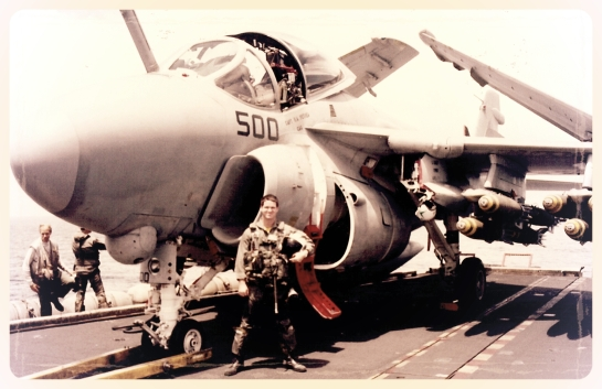 Me and the Mighty A-6E Intruder loaded for a strike.  A conventional one....