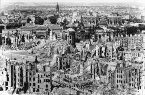 Dresden, Germany.  Conventional bombs with atomic results.