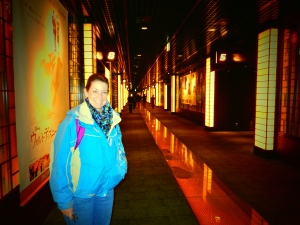 Kyoto Japan Winter 2014, goin' to the movies, Jody is the absolutely beautiful theater!