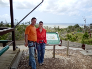 Okinawa Forest Adventure 2014, Kevin and Jody in the hills of Onna Village