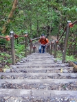 Okinawa Nov 2013, Hiji Falls, Kevin on one of the many staircases