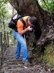 Okinawa Nov 2013, Hiji Falls, Kevin shooting during his nature-hunt