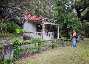 Okinawa Nov 2013, Hiji Falls, Okinawan shrine and tomb along the way