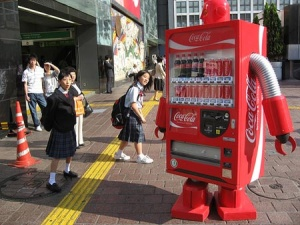 This vending machine even walks TO you....