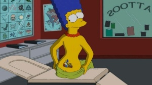 C'mon, even Marge has a tramp stamp.