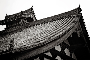 Kyoto Japan Winter 2014, Buddhist temple wooden roofline