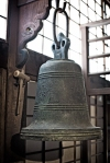 Kyoto Japan Winter 2014, Shunko-in Temple, 16th century Christian church bell (impact)