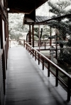 Kyoto Japan Winter 2014, Shunko-in Temple, tranquil wooden raised passages