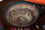 Kyoto Winter 2014, Kiyomizu-dera (清水寺), painted dragon adorns a temple's ceiling