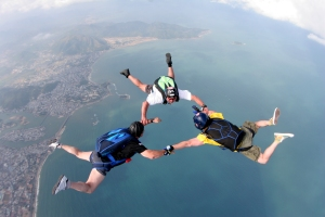 "Team ""Rock"" (big guys fall fast) over Nha Trang"