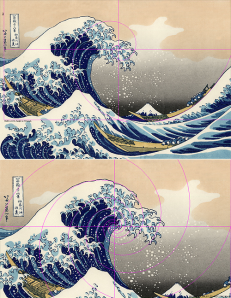 The Artist Hokusai meets the Fibonacci series....