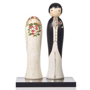 Kokeshi Japanese Wedding Dolls