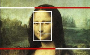 The Divine Proportion of the Mona Lisa.  Doesn't explain the attitude.