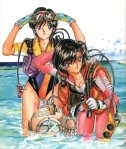 Anime scuba divers, of course.