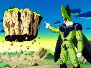 Unlike me, Dragon Ball Z Cell's power is in little doubt....