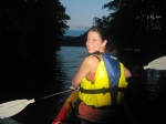 Iriomote Vacaton 2014, Night Kayaking, Jody smiles in the mangroves