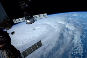 Massive...and massively beautiful from the ISS.
